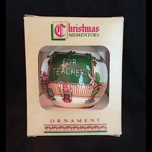 Vintage Christmas Ornament for the Teacher